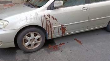 雲林小巷驚見血滴子!路邊盆栽全是刺 他轉彎爆胎超崩潰