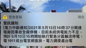 快訊/全台大停電!台北、新竹、高雄傳災情
