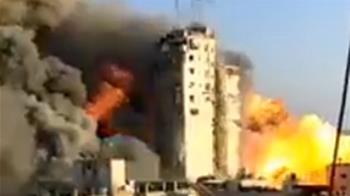 以巴開戰!16層高樓被炸毀 36秒震撼畫面曝光