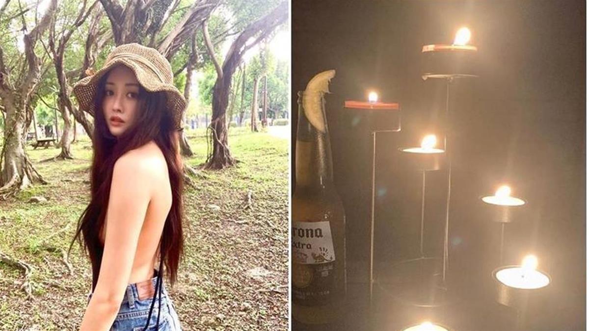 性感女神賴琳恩停電點蠟燭 「越穿越少」害老公更熱