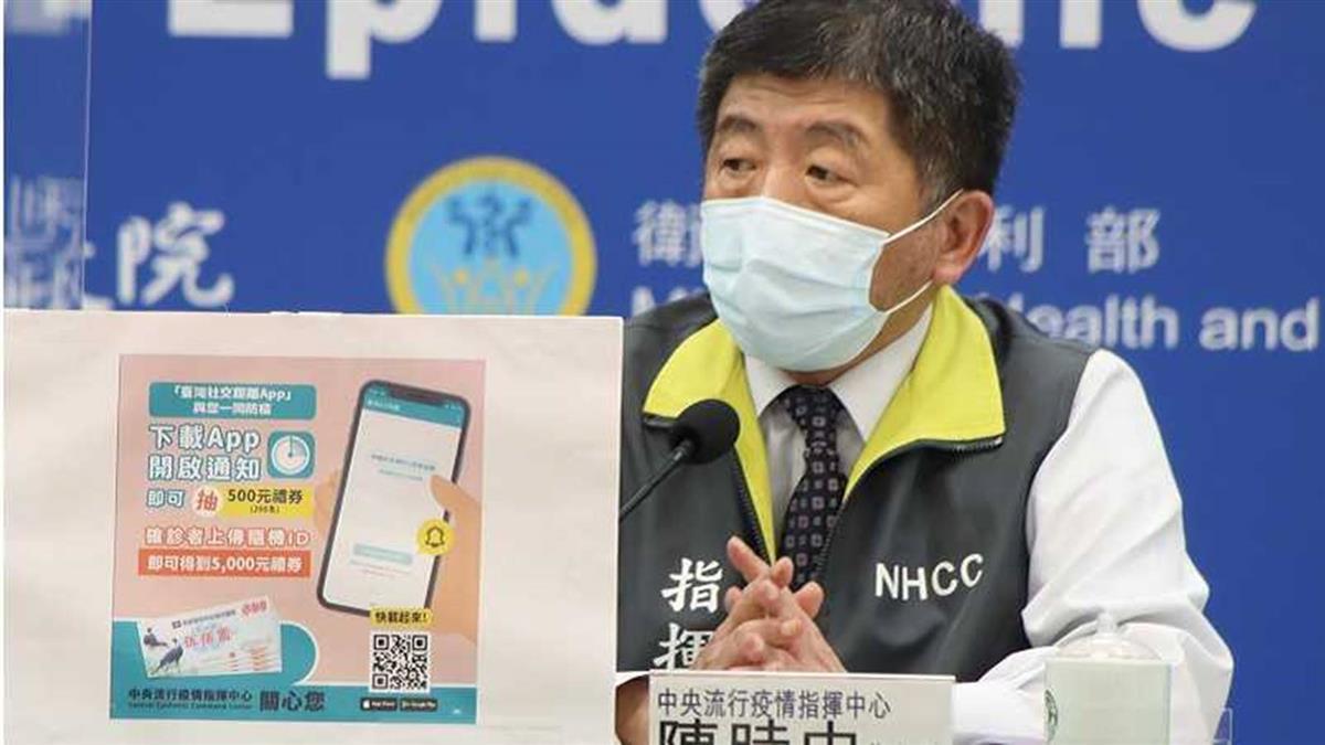 「台灣社交距離APP」載起來 確診者上傳資料可領5000元