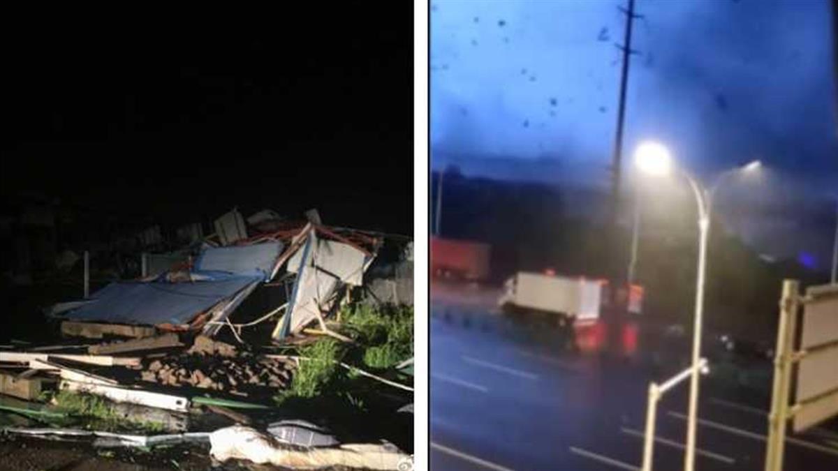 9級龍捲風狂襲武漢 樹斷、房塌畫面超慘烈