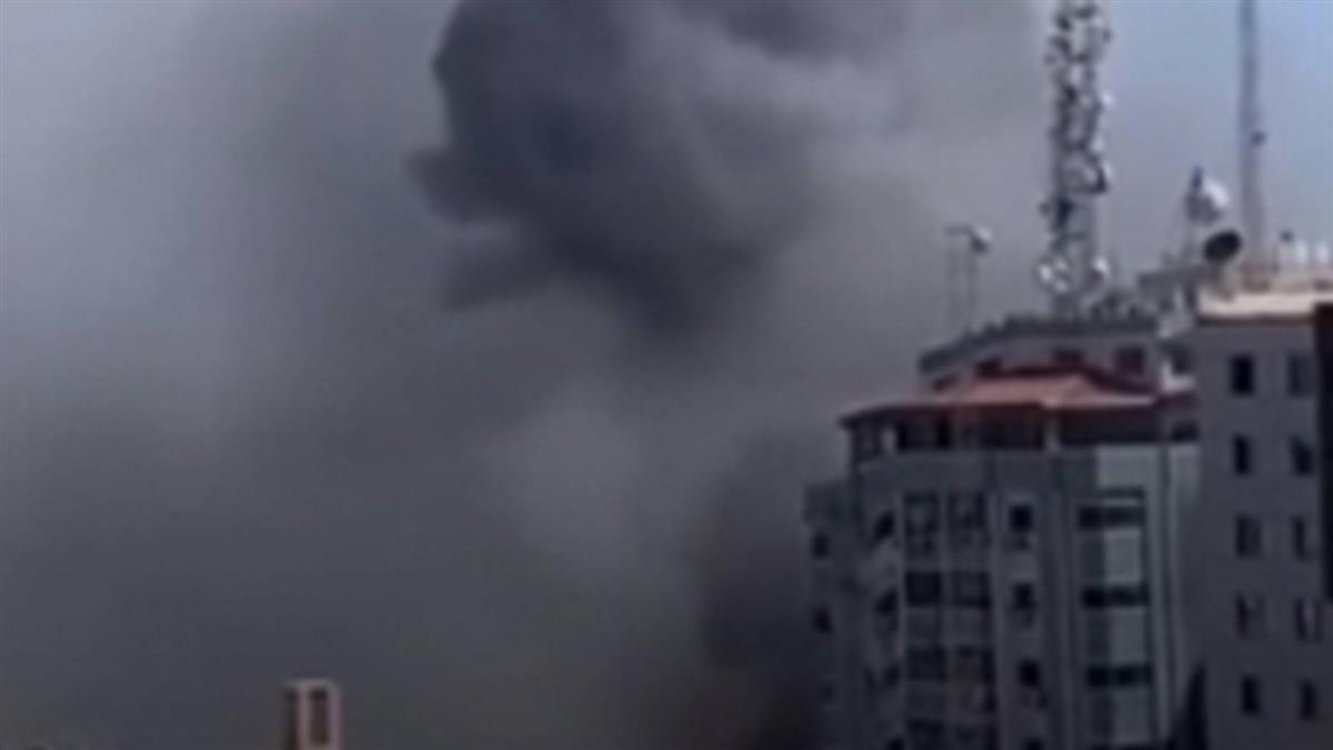快訊/以色列空襲加薩走廊 美聯社、半島電視台遭炸毀