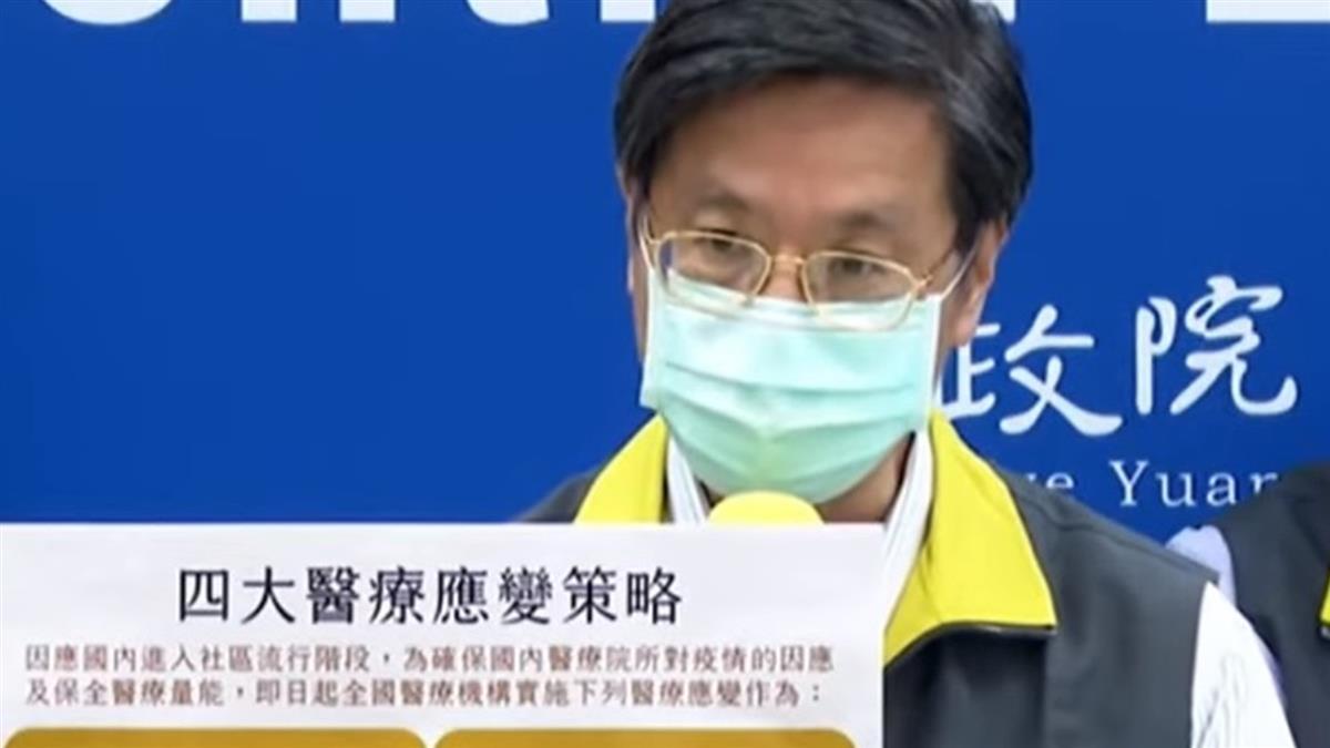 快訊/激增206本土案例 指揮中心宣布4大醫療應變策略