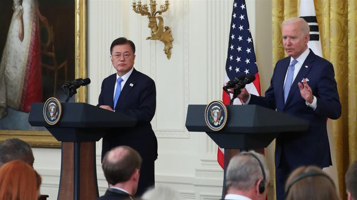 拜登、文在寅峰會 談維持台海和平穩定重要性