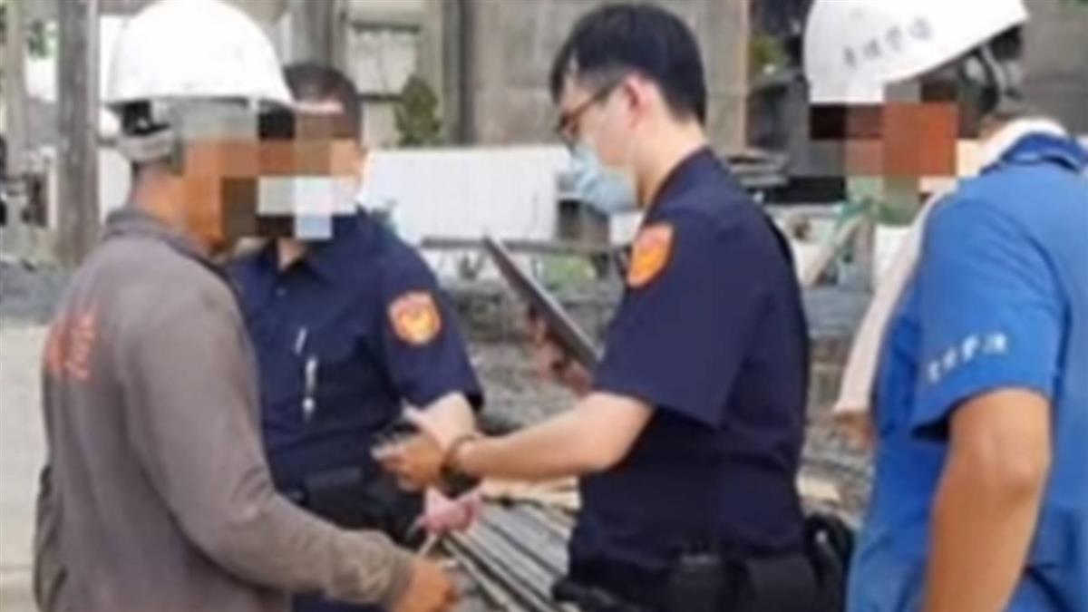 工地內工人不戴口罩 警開罰引發網路熱議