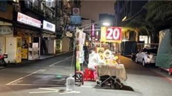 饒河夜市超狂包場!「整條街只剩他」網驚呼:淡淡的哀傷