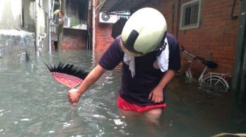 缺水有救了!日月潭大雨狂炸 內湖機車淹到快滅頂