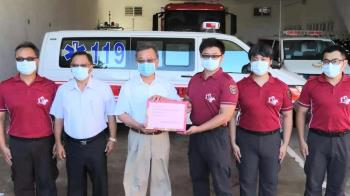 澎湖成立專責救護隊 愛爾麗暖捐600萬防疫裝備
