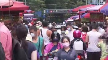 濱江市場周末人潮多 警方、里長沿路宣導防疫
