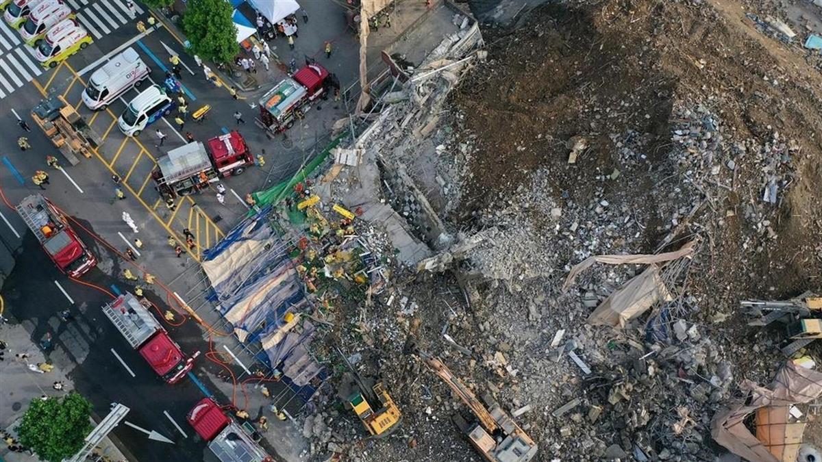 南韓光州建築突倒塌!9人慘死8重傷 路過公車遭活埋