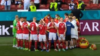 歐洲盃球星突「瞪大雙眼倒地」 驚悚畫面全球直播