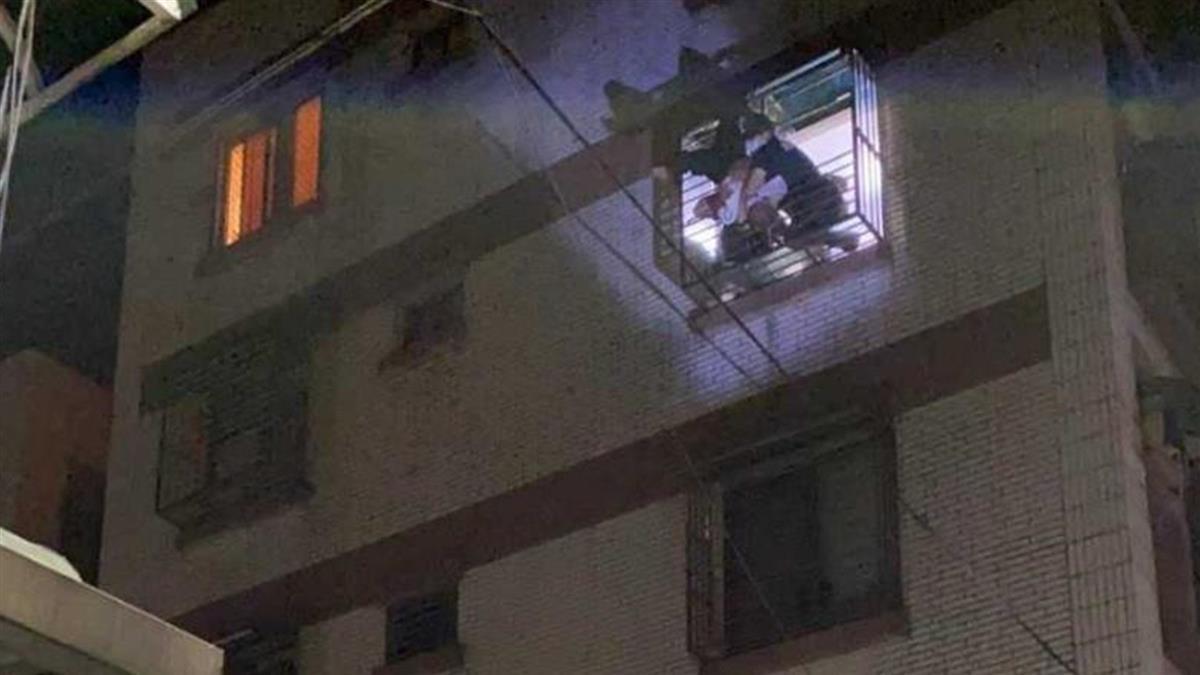 基隆男酒醉忘帶鑰匙 爬窗返家失足「倒栽蔥」插4樓窗框