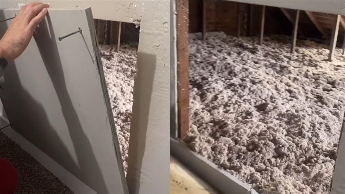 買新屋挖開牆壁驚見「恐怖密室」 網嚇壞:通往神秘空間