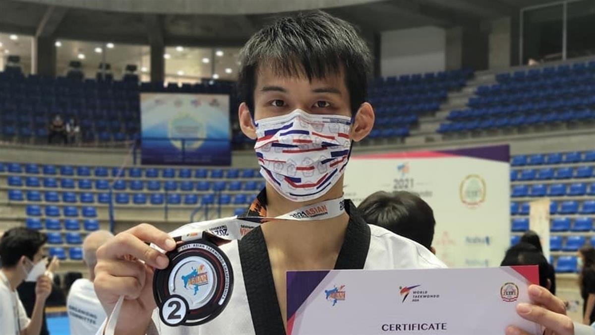 亞洲跆拳道錦標賽 劉威廷再添1銀