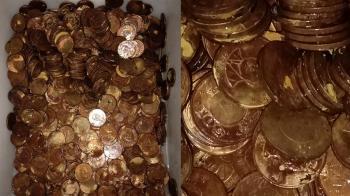 50元硬幣「全泡漂白水」體無完膚慘況曝光:洗錢洗壞了