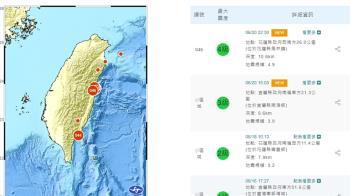 快訊/22:50花蓮發生有感地震 國家級警報狂響