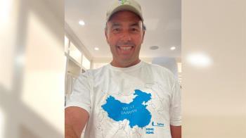 美金融大亨挺台!穿「大陸是西台灣」T恤酸爆 網嗨:哪裡買?
