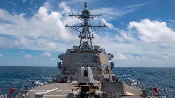 5個月來第6次 美驅逐艦魏柏號通過台灣海峽