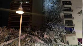 美國大樓突坍塌!「垂直崩壞」1死多人傷 驚悚畫面曝光