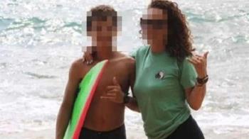 12歲弟衝浪疑遇公牛鯊 「小腿肚遭啃光」驚喊:沒感覺