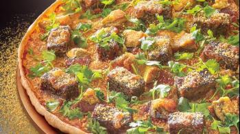披薩店推出「香菜皮蛋豬血糕」口味 網友瞬間崩潰