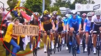 就是妳!害自行車比賽摔成一片 舉牌粉絲下場曝光