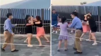 迪士尼遊客互毆 女兒嚇傻哭喊:媽媽別打了!