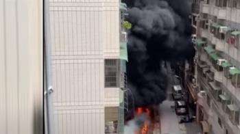 天熱釀禍?電動車自燃波及周邊機車 17機車燒剩骨架
