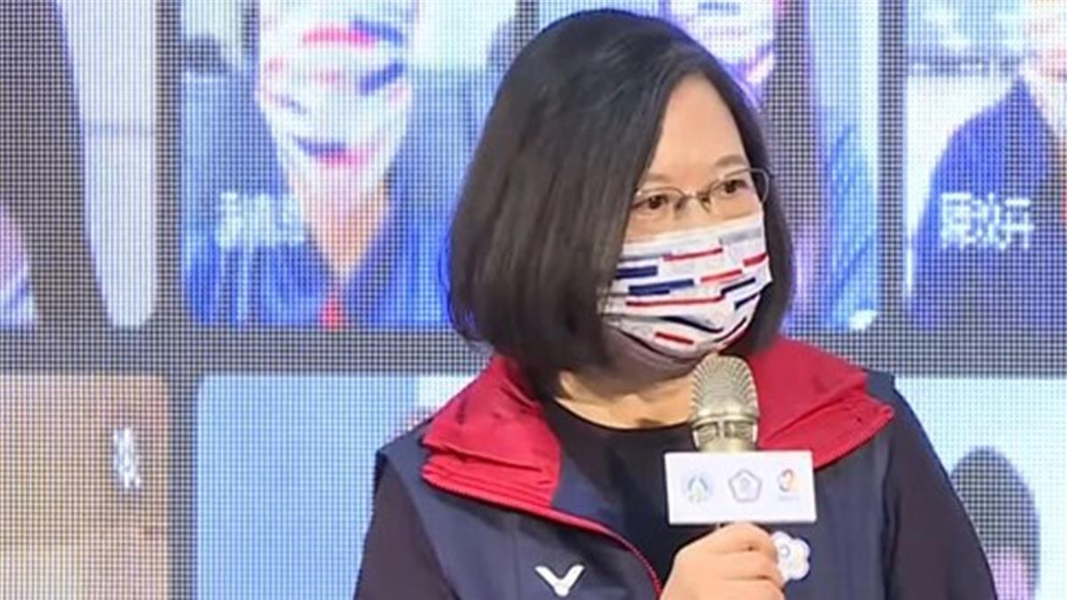 授旗東奧代表團 蔡總統盼黃金世代激勵台灣