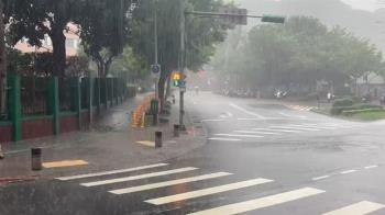 快訊/10縣市雨彈狂轟 大雷雨來襲下不停