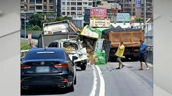 八里匝道10車追撞、1命危 救援消防車到場竟又遭撞