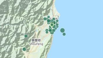 花蓮狂震16次!震央「往北」移動 專家警告:市區要小心