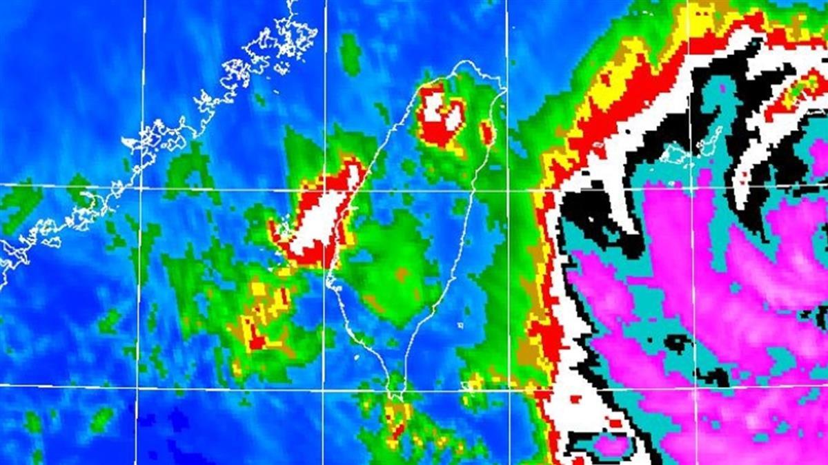 8縣市豪、大雨!烟花強風「會把人吹走」 暴風圈恐掠過這些縣市