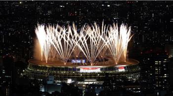 東奧正式開幕!高科技秀震撼全場 絢爛煙火奪目