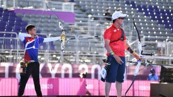 湯智鈞銅牌戰落敗 仍創台灣男子射箭最佳成績