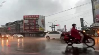 快訊/豪雨狂炸中南部 高雄3區明天停止上班上課
