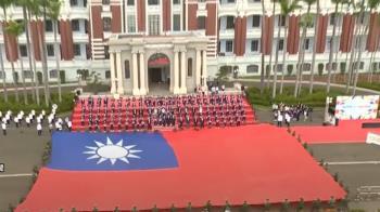 金曲歌后、巨幅國旗 東奧英雄進總統府「開趴」