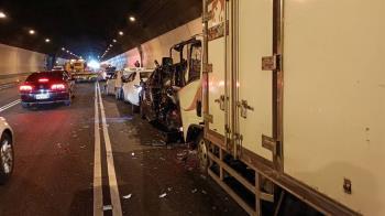 快訊/國道三號6車隧道內追撞 7受傷有人一度受困車內