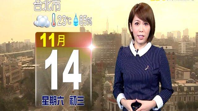 【2015/11/14】風向改吹東北風 有短暫陣雨天氣涼