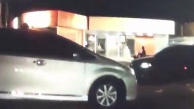 砰!警追重機酒駕 遭休旅車撞飛縫5針