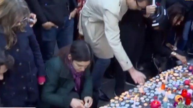 巴黎恐攻死傷慘 共和廣場湧悼念群眾