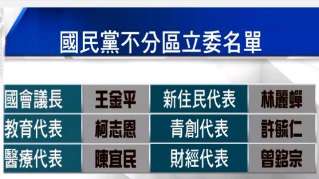 綠又發酸了 KMT不分區名單史上最爛?