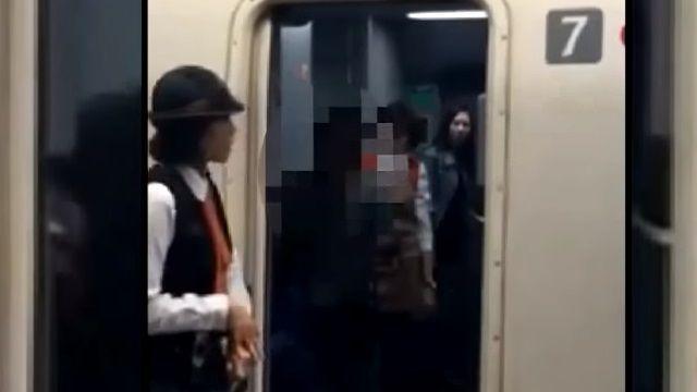 醉坐高鐵通道擋路 阿伯嗆「叫警察來」