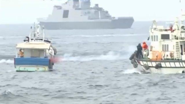 國軍、海巡護漁 操演「反恐」攻堅任務