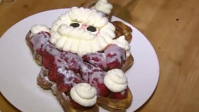 迎接聖誕節來臨! 創意鬆餅超吸睛