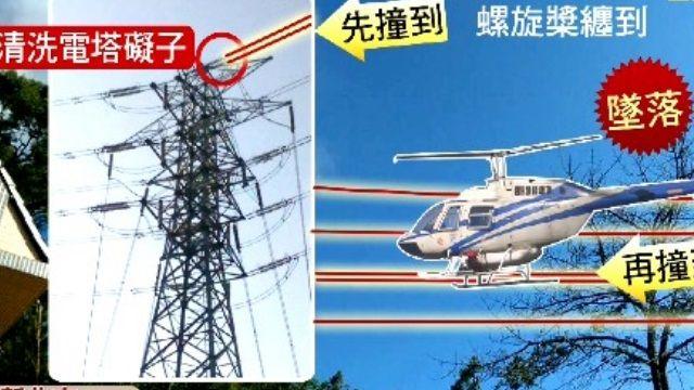 直升機清洗電塔 螺旋槳纏電線墜樹叢2死