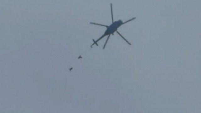 俄搜救直升機遭敘利亞反抗軍「轟爆」