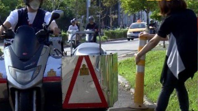 停車場水泥柱擋道 身障車位如虛設?