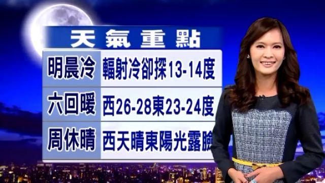 【2015/11/27】 台南以北 最低溫下探12度